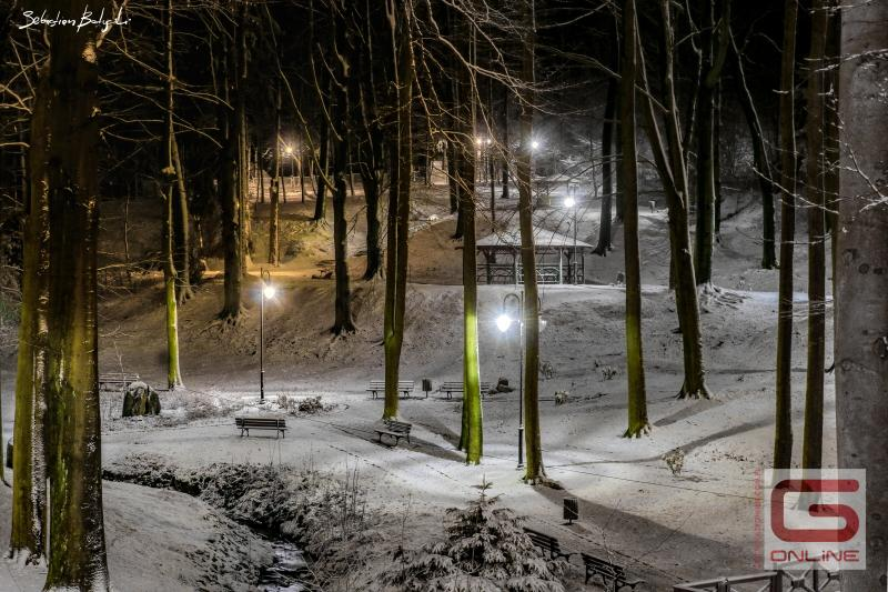 Park Zdrojowy zimą