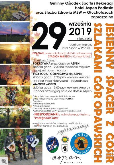 jesienny spacer plakat 2019